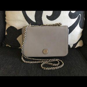 ✅Tory Burch - Grey Mercer Crossbody/Shoulder Bag!